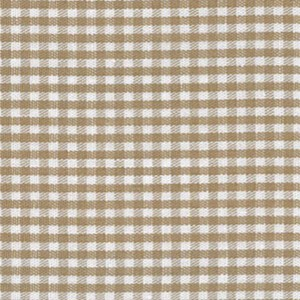 1/16 Gingham British Tan Check Fabric