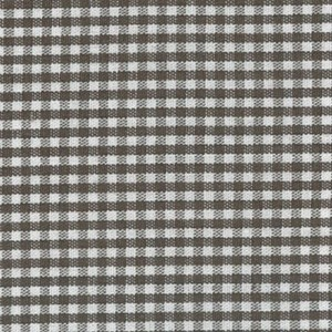 1/16 Gingham Chocolate Brown Check Fabric