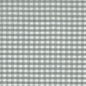 1/16 Gingham Grey Check Fabric