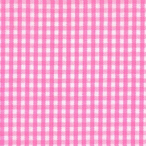 1/16 Gingham Hot Pink Check Fabric