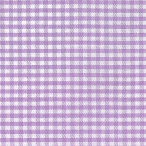 1/16 Gingham Lilac Check Fabric