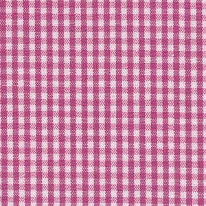 1/16 Gingham Magenta Check Fabric