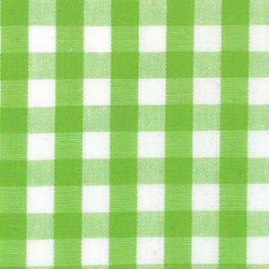 1/4 Gingham Bright Lime Check Fabric
