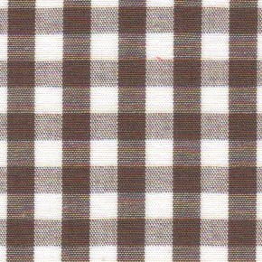 1/4 Gingham  Chocolate Brown  Check Fabric