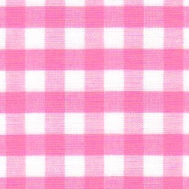 1/4 Gingham Hot Pink Check Fabric