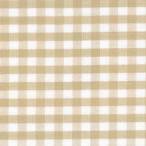1/8 Gingham Khaki  Check Fabric
