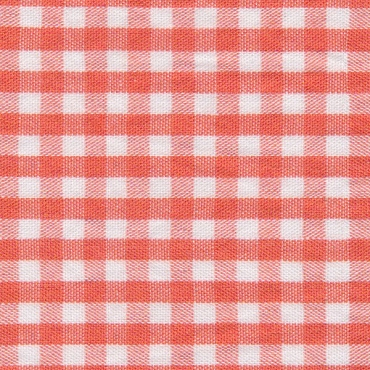 1/8 Gingham Orange  Check Fabric