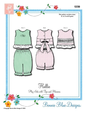 Hallie by Bonnie Blue Designs - 123B - Sizes 3, 4, 5, and 6