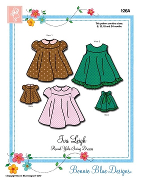 Iva Leigh by Bonnie Blue Designs - 126A Sizes 6, 12, 18, 24 months