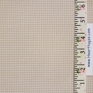 1/16 Gingham Khaki Check Fabric