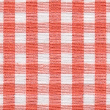 1/4 Gingham Orange Check Fabric