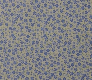Tiny Blue Floral - #1762 - by Fabric Finders Inc.  60W 100% Cotton
