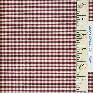 1/8 Gingham Crimson Check Fabric