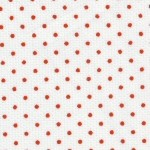 Red Dots on White Pique