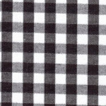 1/4 Gingham Black Check Fabric