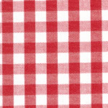 1/4 Gingham Berry Red Check Fabric