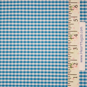 1/8 Gingham Turquoise Check Fabric