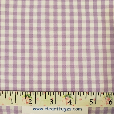 1/4 Gingham  Lilac  Check Fabric