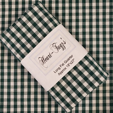 1/4 Gingham  Forest Green Gingham - by Spechler Vogel Textiles -  Check Fabric