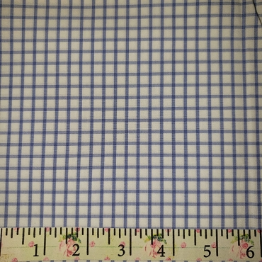 Pima Pastel Classics Royal Check Fabric ~ Spechler Vogel Textiles ~ 100% Pima Cotton - Windowpane Checked Fabric 45W