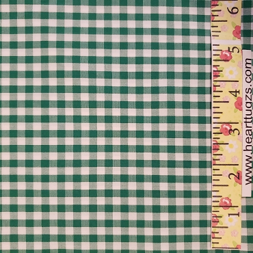 1/4 Gingham Kelly Green Check Fabric