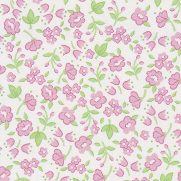 Floral Fabric: Pink and Lime Green  Challis Fabric Print #2212