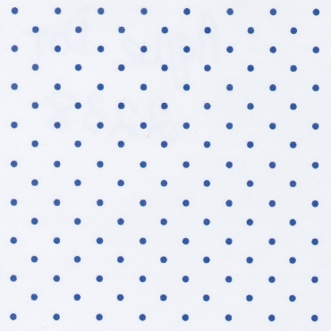 Royal Dots on White Pique Fabric