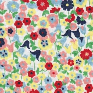 Floral Fabric Pink, Red, Yellow, Blue and Green - Print  2303