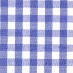 1/4 Gingham Royal  Check Fabric
