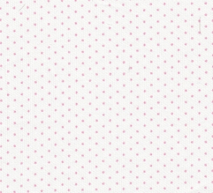 Pink Dots on White Pique