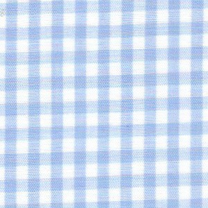 1/8 Gingham Blue Check Fabric
