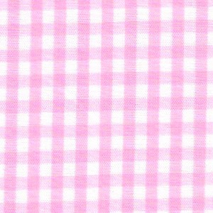 1/8 Gingham Bubblegum Pink Check Fabric