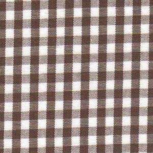 1/8 Gingham Brown Check Fabric