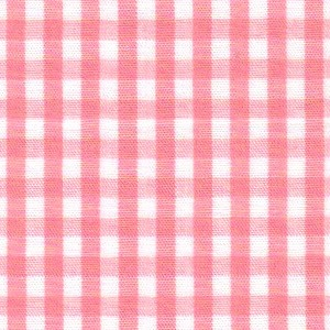 1/8 Gingham Coral Check Fabric