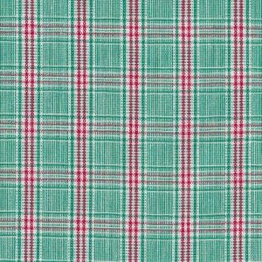 Red and Green Plaid Fabric P-56