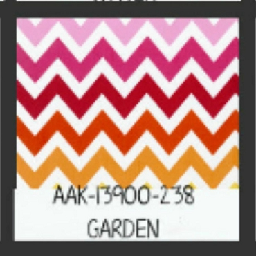 Garden Chevron by Robert Kaufman by the yard
