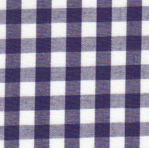 1/4 Gingham Navy Check Fabric