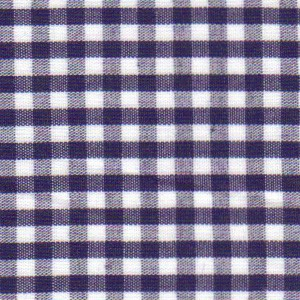 1/8 Gingham Navy Check Fabric
