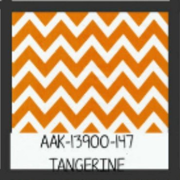 Tangerine Chevron by Robert Kaufman by the yard