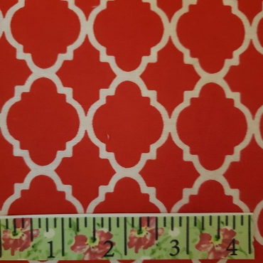 Red and White Quatrefoil