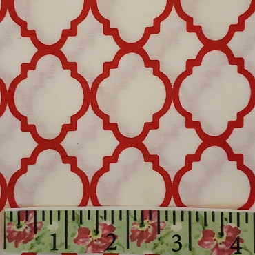 White and Red Quatrefoil