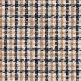 Tattersall - T86  Black and Gold Check Fabric