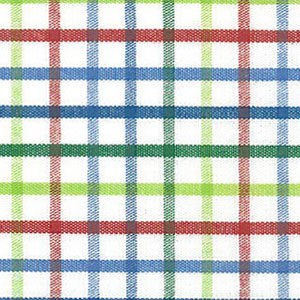 Tattersall - T44 Red, Blue and Green Check Fabric