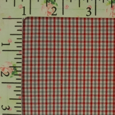 Tattersall - T82 Red and Gray Small Check