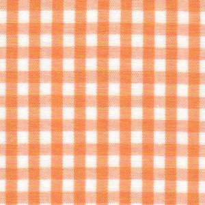 1/8 Gingham Tangerine Check Fabric