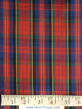 Tartan Red Blue Yellow Red Plaid Poly/Cotton 45W