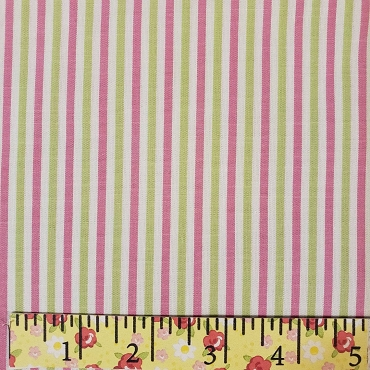 Tattersall - T27/2 Pink and Green stripe