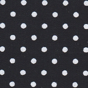 White Dots on Black Fabric Print #2178 Black White Dots Cotton Fabric Printed on one side 57W FFD2018HT 1/8