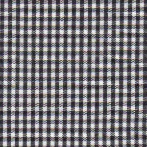 1/16 Gingham Black Check Fabric
