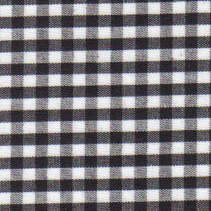 1/8 Gingham Black Check Fabric